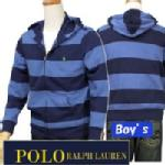 POLO by Ralph Lauren Boy'sボーダー フルジップパーカー