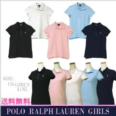 POLO by Ralph Lauren Girl's 半袖鹿の子ポロシャツ ホワイト