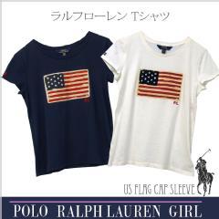 ラルフローレン ガールズ USフラッグ 半袖Tシャツ