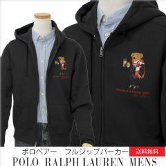 LO Ralph Lauren Men's ポロベアーフルジップパーカー