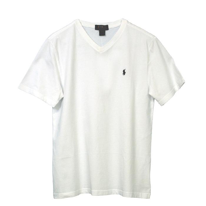 ラルフローレン Vネック ワンポイント半袖Tシャツ ホワイト