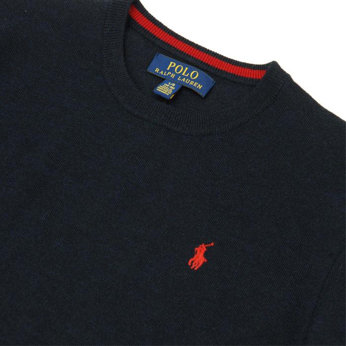 ラルフローレン メリノウール100% クルーネックセーター 襟もと
