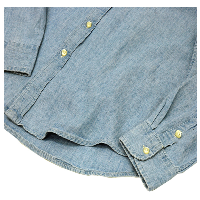 ラルフローレン ボーイズ シャンブレー 長袖シャツ 裾部分