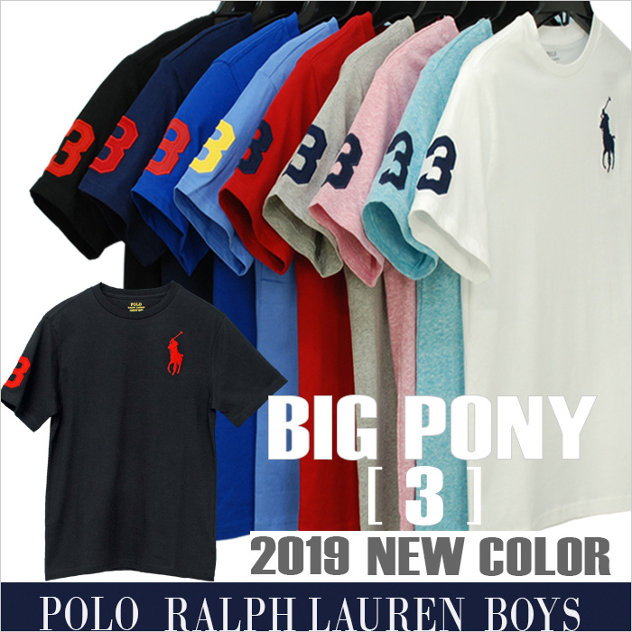 ラルフローレン ビッグポニー半袖コットン ジャージー クルーネック Tシャツ