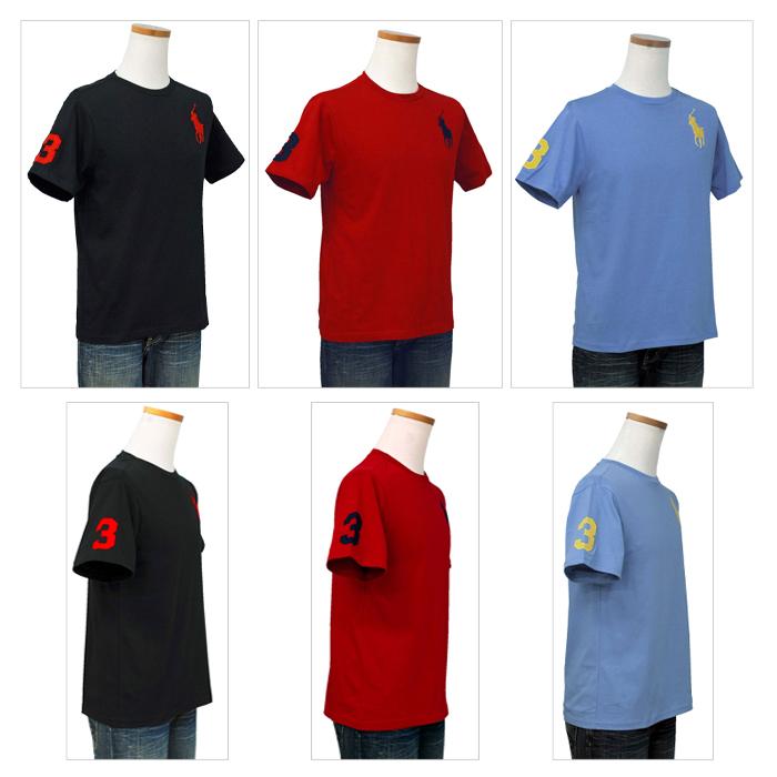 ラルフローレン ビッグポニー半袖Tシャツレッドとグレー