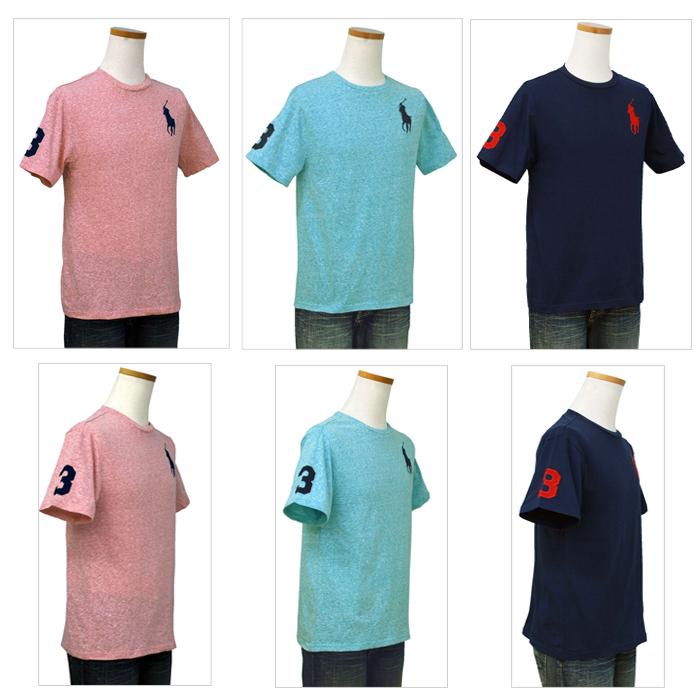 ラルフローレン ビッグポニー半袖Tシャツブルーとアクアブルー
