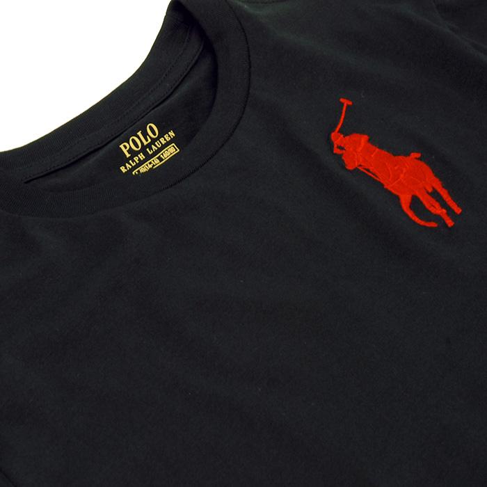 ラルフローレン コットン ロングスリーブ Tシャツ、ブラック