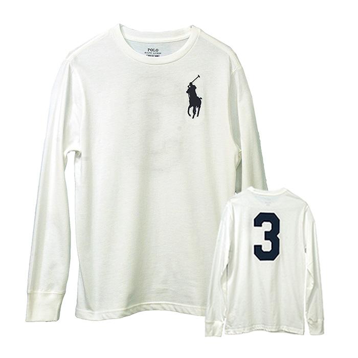 ラルフローレン ビッグポニー バックナンバー3 長袖T シャツ ホワイト