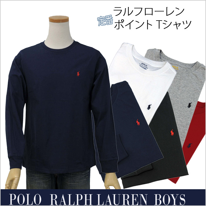 ラルフローレン 定番 長袖ポイント Tシャツ