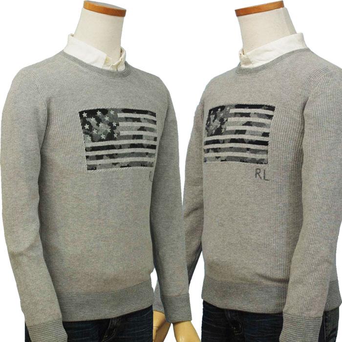 ラルフローレン USA(カモフラ風)フラッグセーター