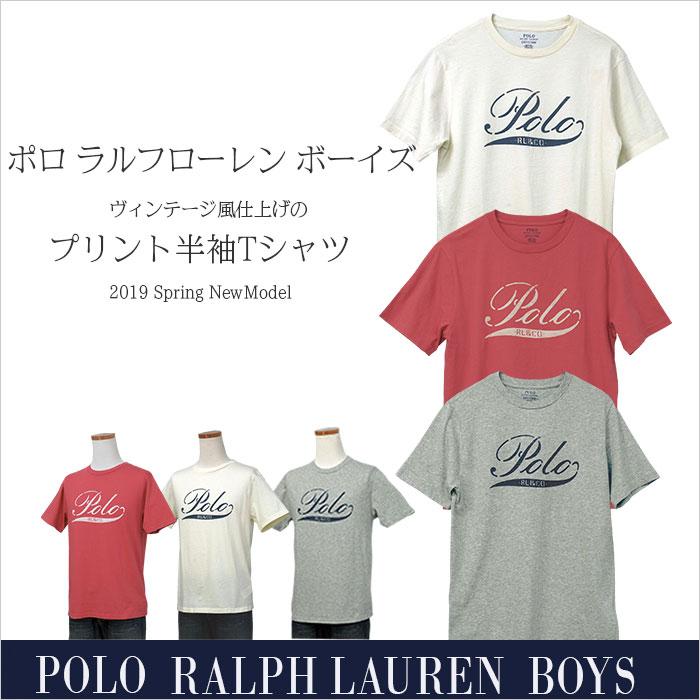 ラルフローレン コットン POLOプリント半袖Tシャツ