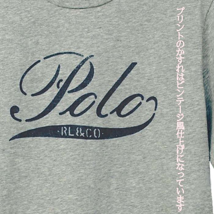 ラルフローレン コットン POLOプリント半袖Tシャツプリントはビンテージ加工