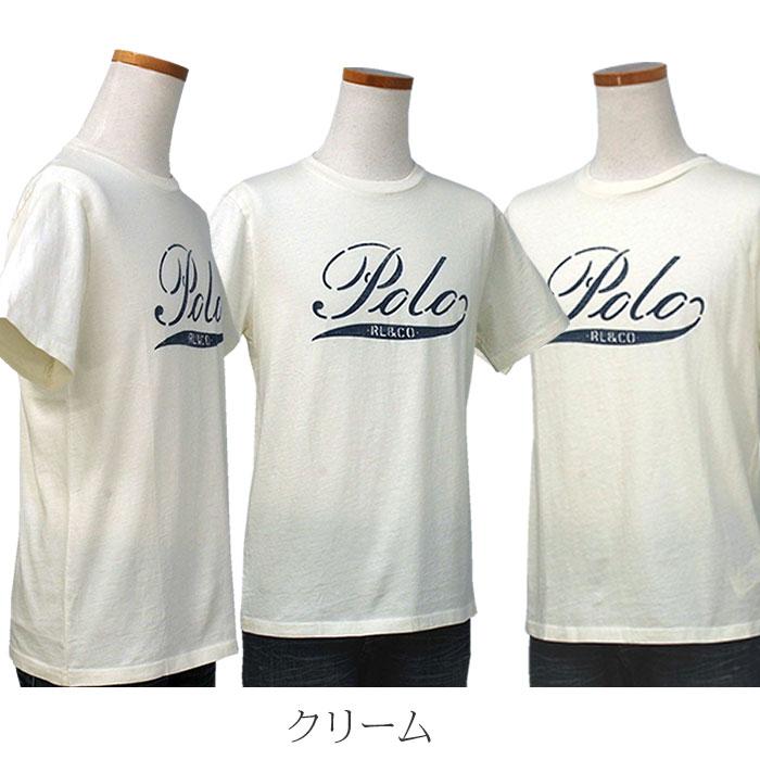 ラルフローレン コットン POLOプリント半袖Tシャツ クリーム