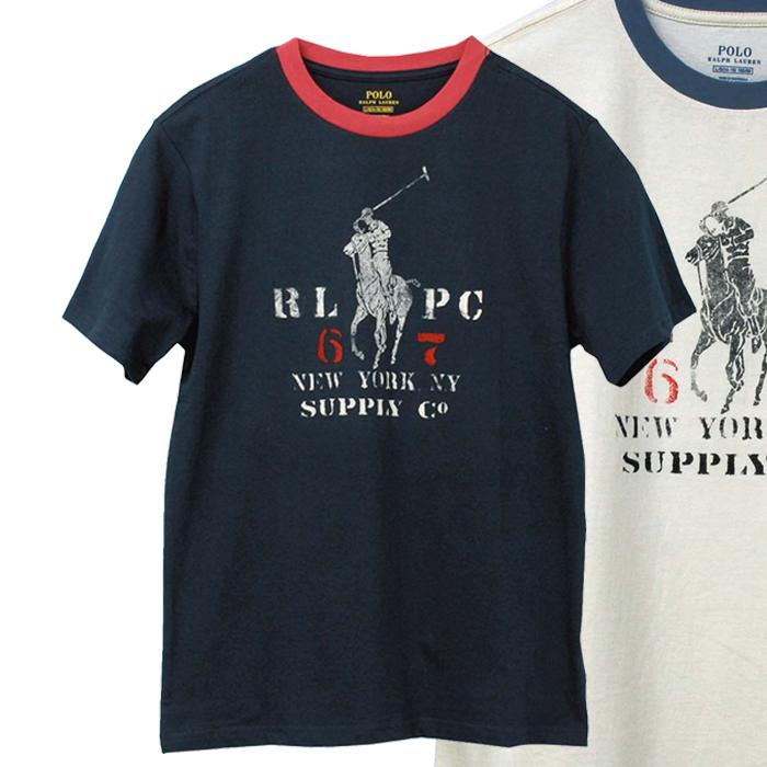 ラルフローレン ビッグポニーコットン ビンテージ風Tシャツ