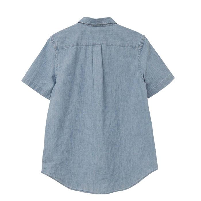 ラルフローレン コットン シャンブレー シャツ刺繍の大きさ