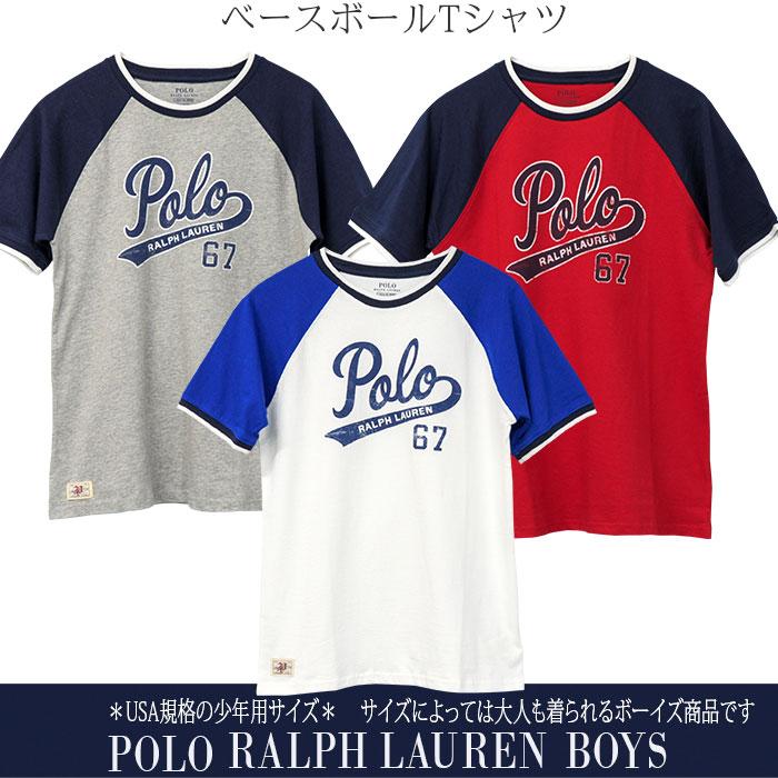 ラルフローレン POLOロゴ半袖ベースボールTシャツ