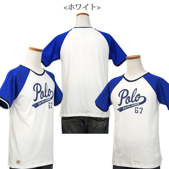 ラルフローレン POLOロゴプリント半袖ベースボールTシャツ ホワイト