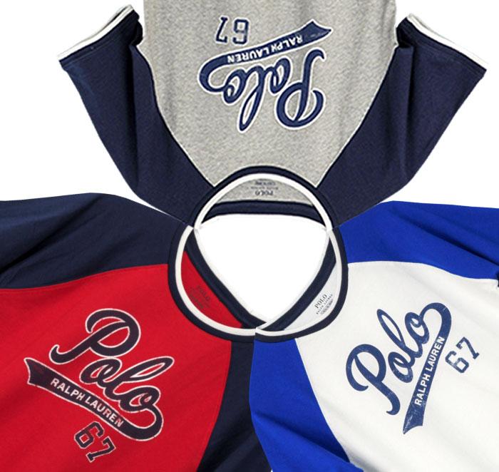 ラルフローレン POLOロゴプリント半袖ベースボールTシャツ