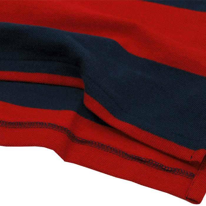 ラルフローレン コットン 半袖ボーダーポロシャツ裾部分