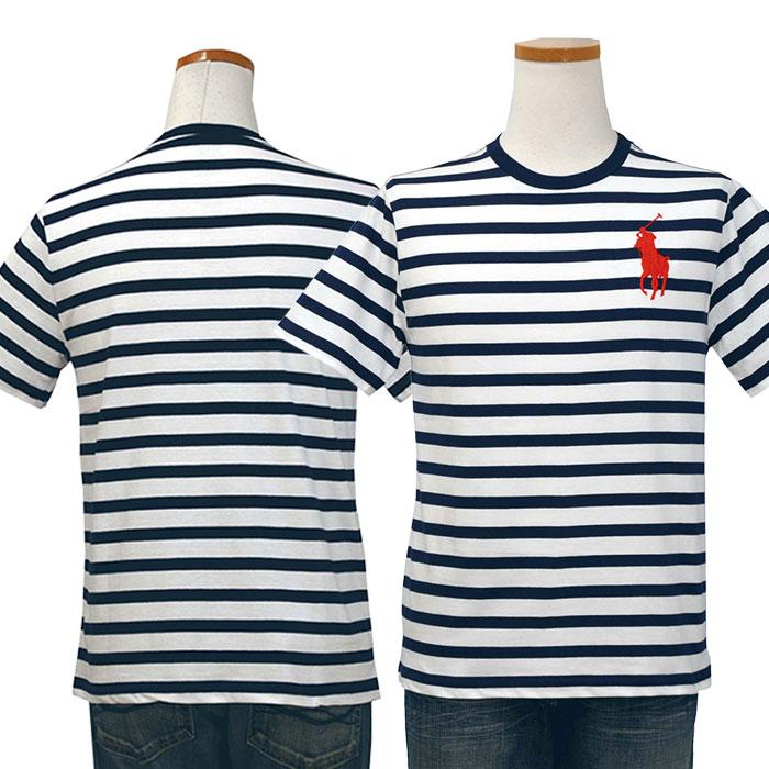 ラルフローレン コットン ビッグポニー ボーダー半袖Tシャツ