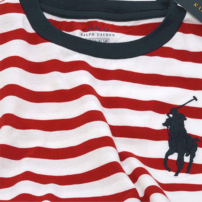 ラルフローレン ビッグポニー ボーダー半袖Tシャツ ビッグポニー刺繍の拡大