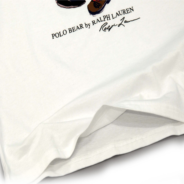 ラルフローレン コットン ポロベアー半袖Tシャツ裾部分
