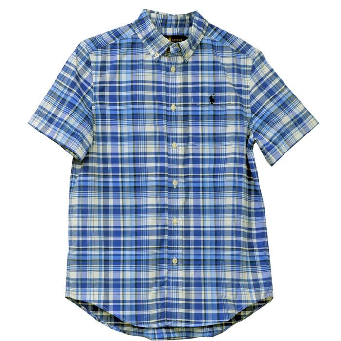 ラルフローレン 半袖マルチチェックシャツ ポケット付