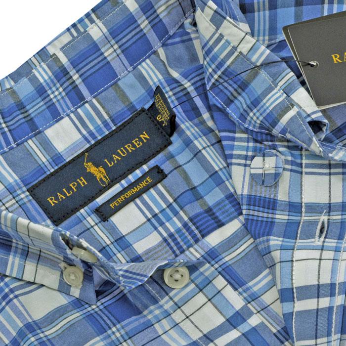 ラルフローレン 半袖マルチチェックシャツ ポケット付 WICKING生地を使用