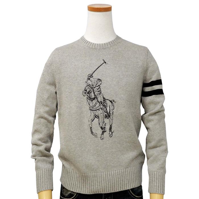 ラルフローレン Big Pony コットン セーター ネイビー/レッド