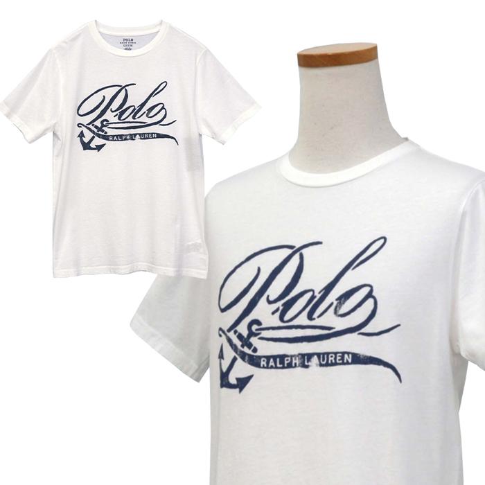 ラルフローレン コットン POLOロゴプリントTシャツ ホワイト