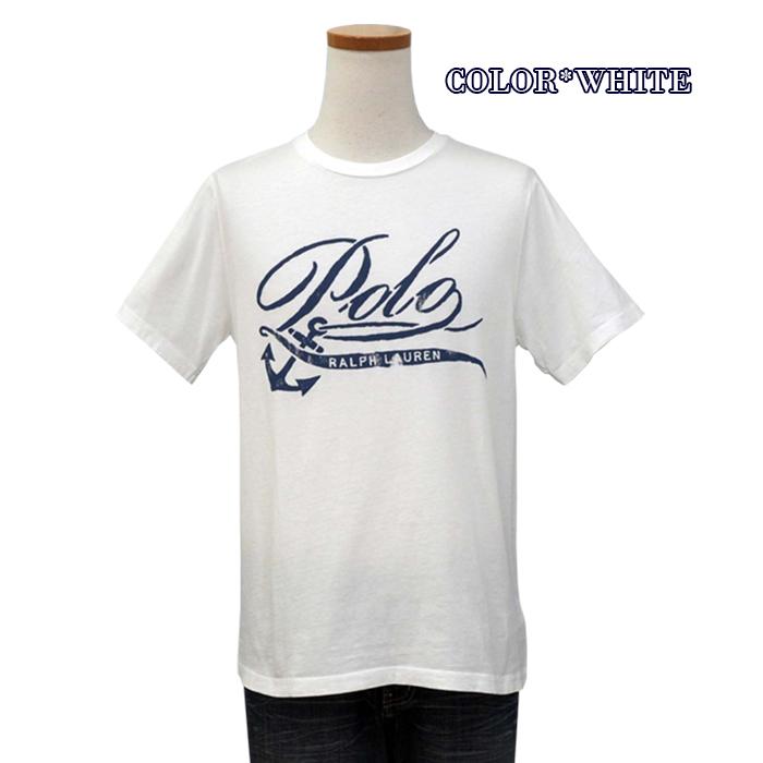 ラルフローレン コットン POLOロゴプリントTシャツ 白 ホワイト
