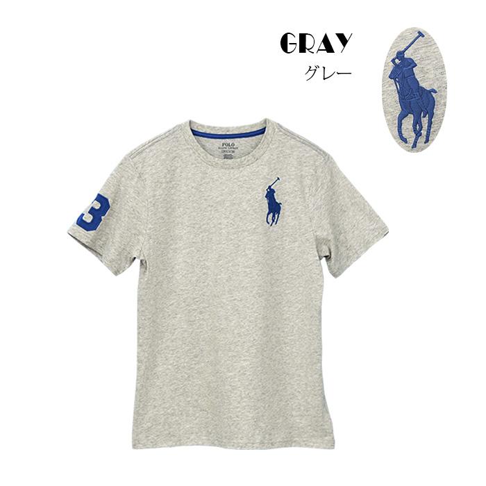 ラルフローレン コットン Big Pony コットン ジャージー 半袖Tシャツ グレー
