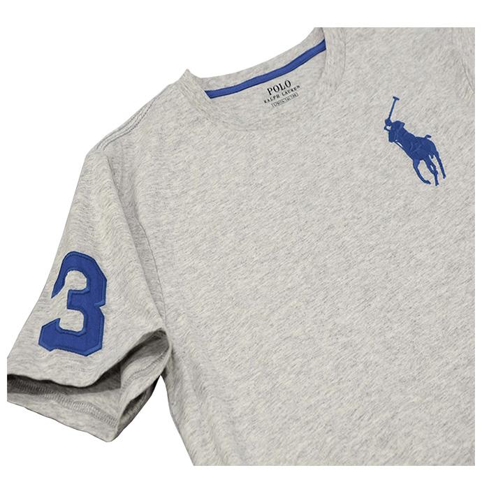 ラルフローレン ビッグポニー刺繍 半袖コットンTシャツ グレー