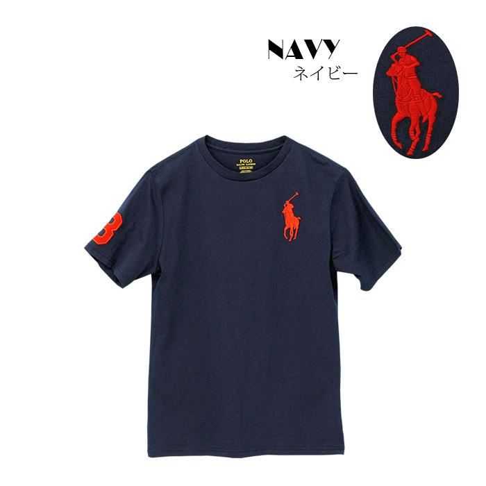 ラルフローレン コットン Big Pony コットン ジャージー 半袖Tシャツ ネイビー