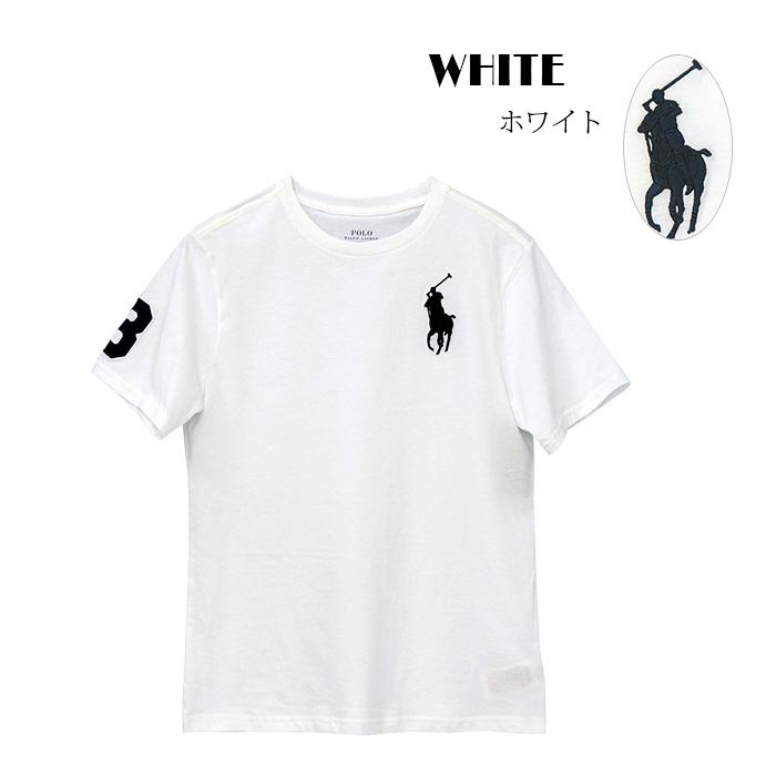 ラルフローレン コットン Big Pony コットン ジャージー 半袖Tシャツ ホワイト