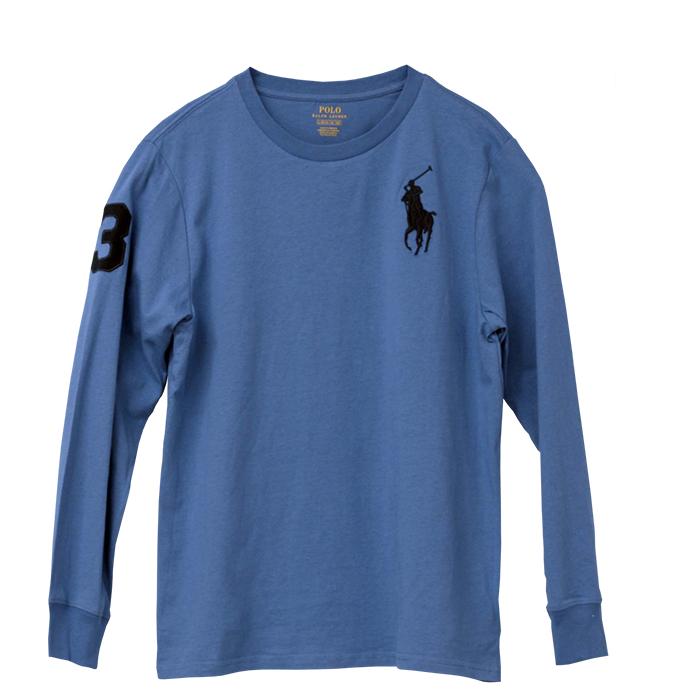 ラルフローレン ビッグポニー長袖ボーターTシャツ ブルー
