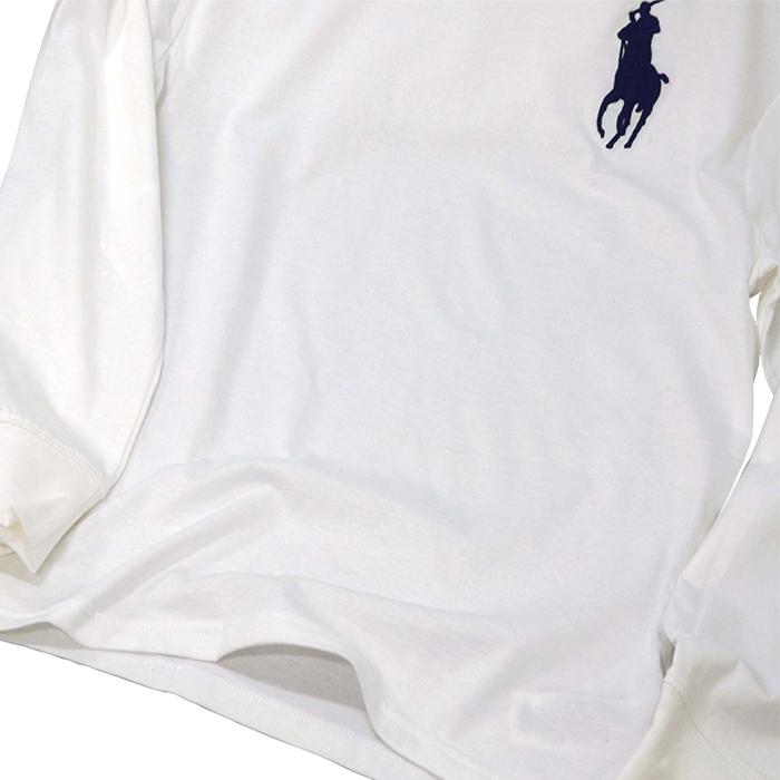 ラルフローレン ビッグポニー長袖Tシャツ ホワイト