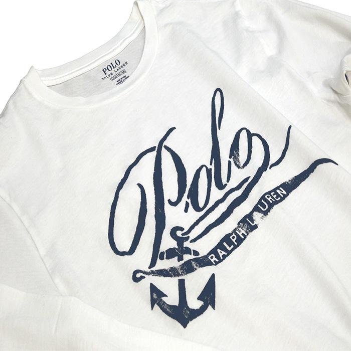 ラルフローレン プリント長袖Tシャツ ホワイト