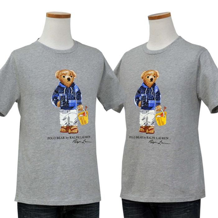ラルフローレン ビーチ ベア コットン Tシャツ グレー