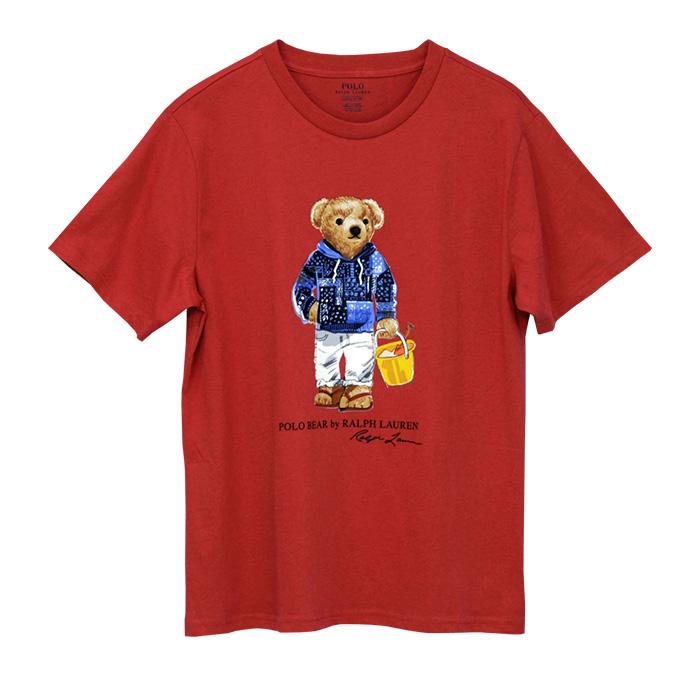 ラルフローレン ポロベア コットン 半袖 Tシャツ レッド