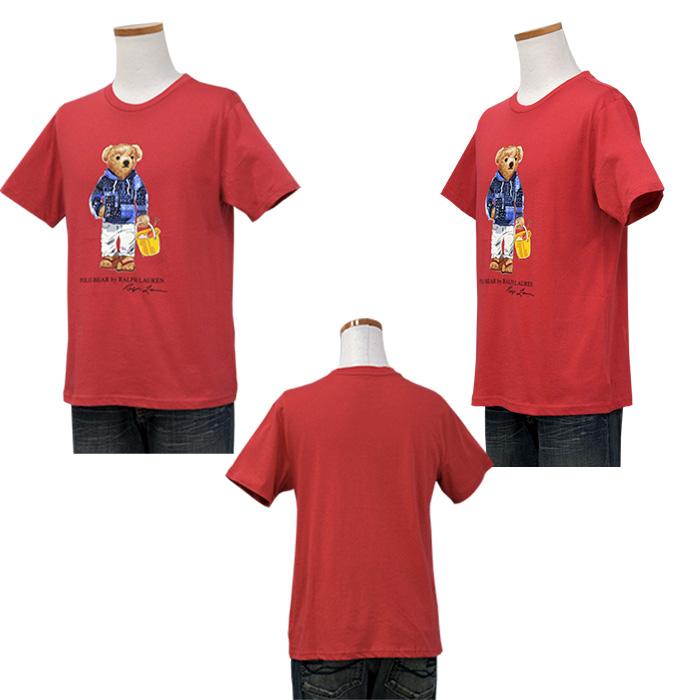 ラルフローレン ビーチベア コットン 半袖 Tシャツ レッド