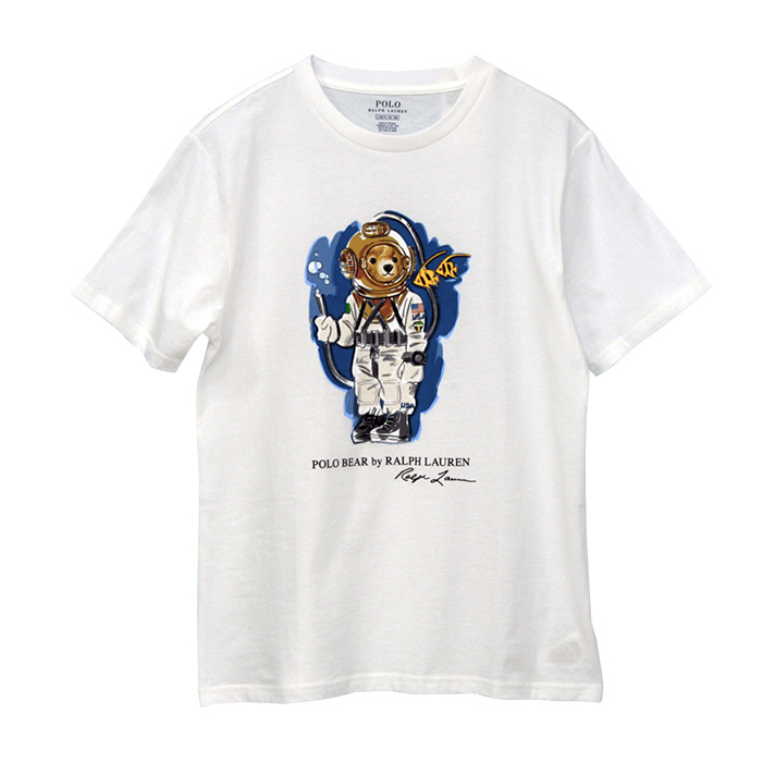 ポロ ラルフローレン ダイビングベア コットン 半袖 Tシャツ ホワイト