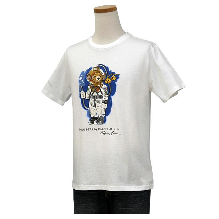 ラルフローレン ダイビングベア コットン 半袖 Tシャツ ホワイト