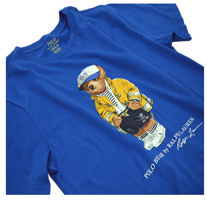 ラルフローレン ベアコットン半袖Tシャツ ブルー