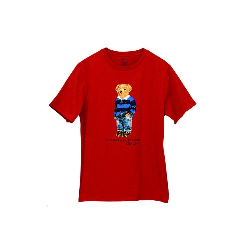 ラルフローレン プリント長袖Tシャツ ブルー