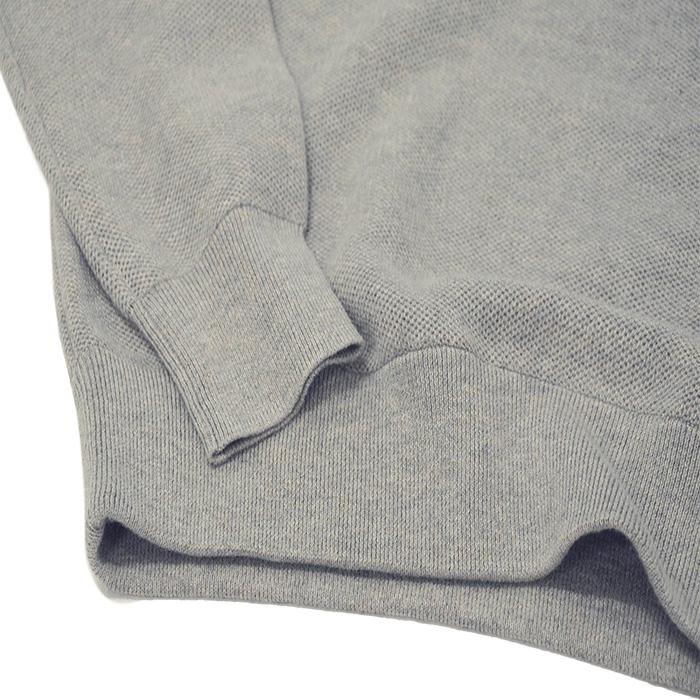 ラルフローレン 鹿の子地襟付きセーター グレー
