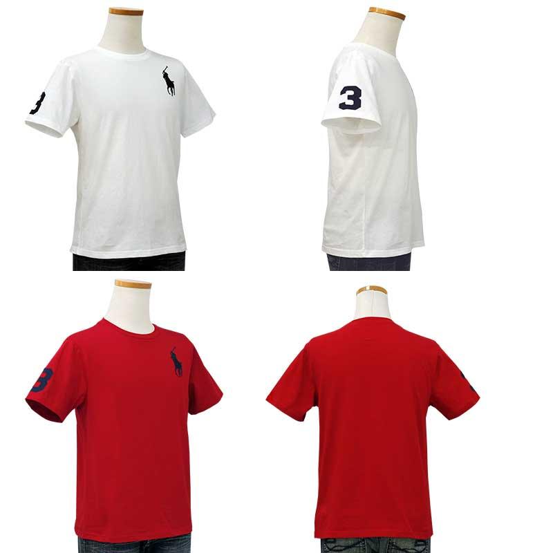 ラルフローレン ビッグポニー半袖Tシャツホワイトとレッド
