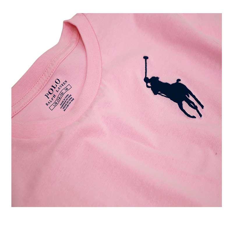 ラルフローレン ビッグポニー半袖Tシャツカーメルピンク ビッグポニー刺繍