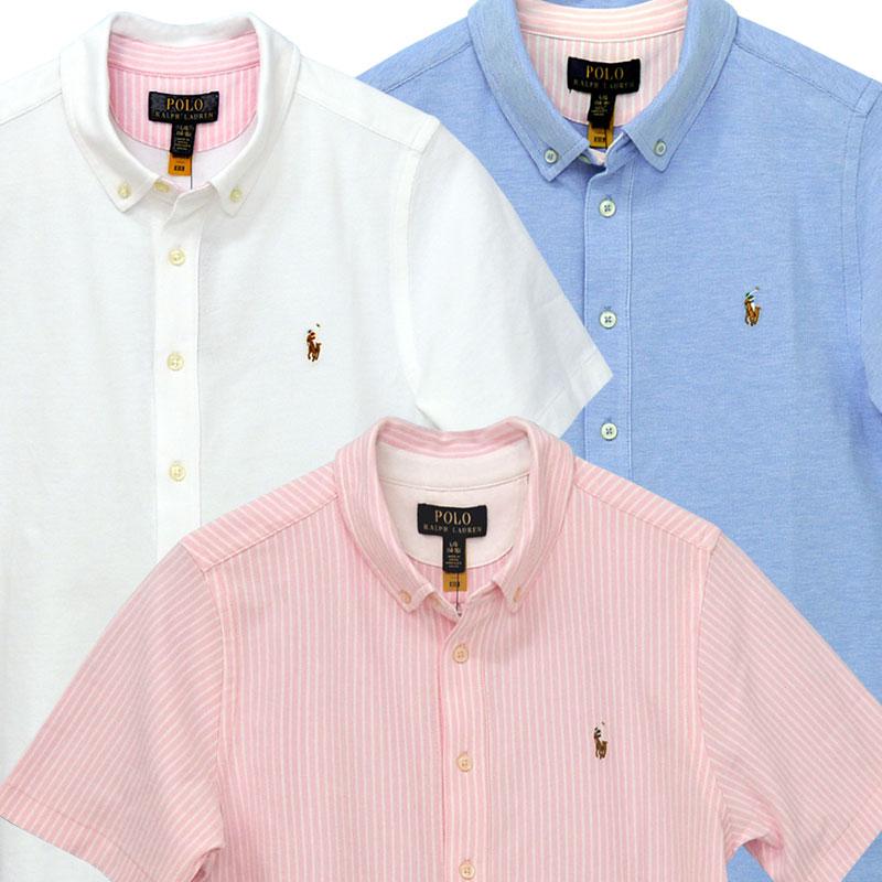 ラルフローレン 鹿の子素材半袖半袖ボタンダウンシャツ