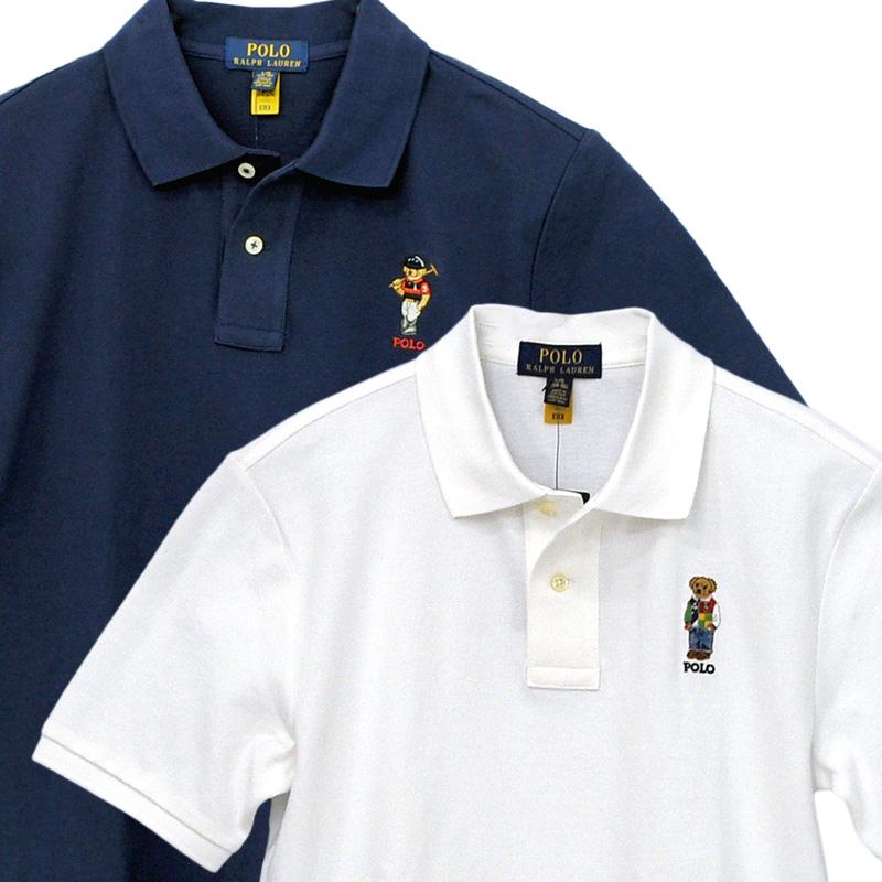 ラルフローレン Polo ベア コットン メッシュ ポロシャツ
